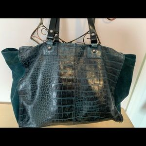 INNUE italy leather oversize bag